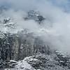 Valley Wall Fog<br /> Yosemite National Park