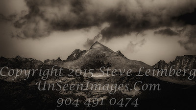Triangle Mountain - B&W Copyright 2015 Steve Leimberg - UnSeenImages Com _Z2A4103