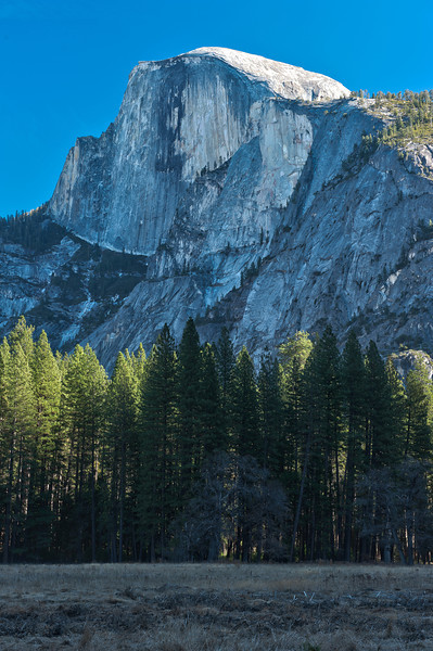 Half Dome<br /> First Snowless January Since 1933<br /> January 2012