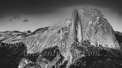Half Dome from Glacier Point III - B&W Copyright 2015 Steve Leimberg - UnSeenImages Com _Z2A4045