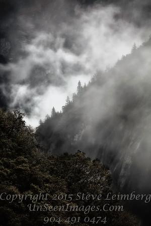 Mountain in Fog - Yosemite - Copyright 2015 Steve Leimberg - UnSeenImages Com _Z2A7509