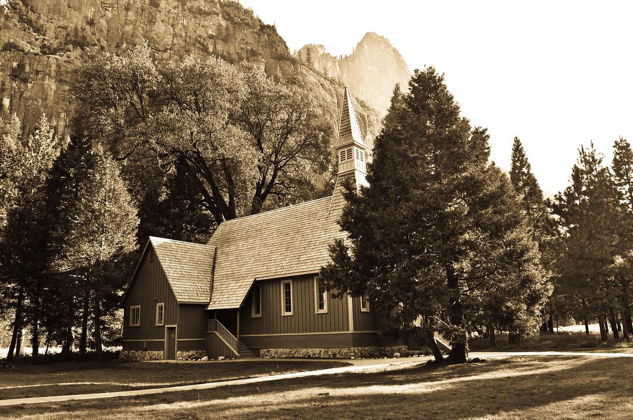 Yosemite Church Sepia