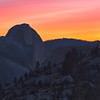 Fire in the Sky<br /> Half Dome from Olmstead Point<br /> First Snowless January Since 1933<br /> January 2012