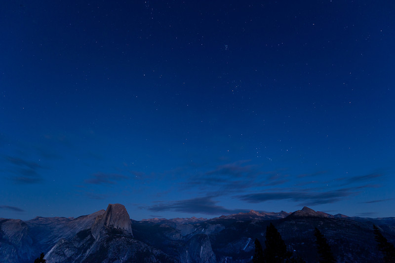Nightfall-Glacier Point<br /> First Snowless January Since 1933<br /> January 2012