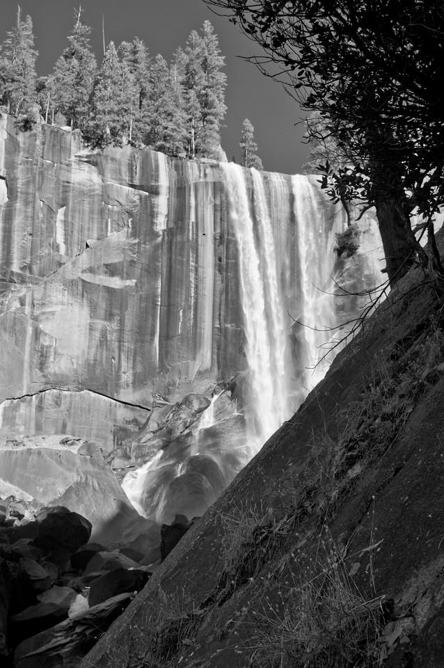 Vernal Falls B&W