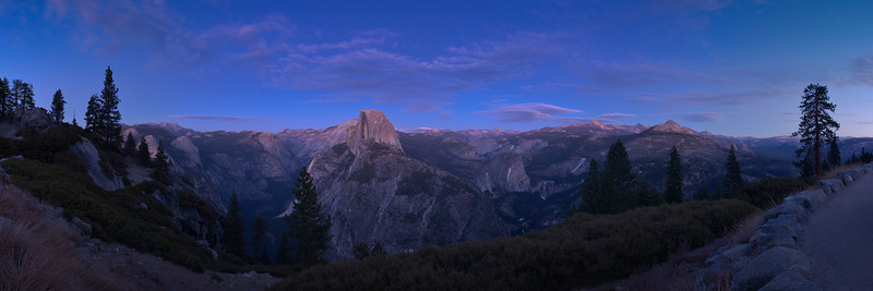 Glacier Point Stitched Panorama<br /> First Snowless January Since 1933<br /> January 2012