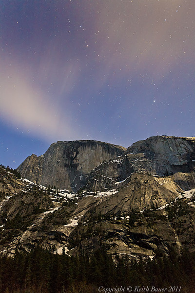 Half Dome by Moon Light