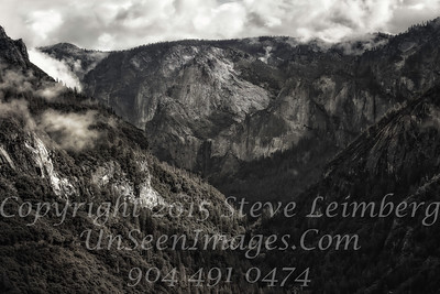 Yosemite Mountain in Mist - Copyright 2015 Steve Leimberg - UnSeenImages Com_Z2A7568