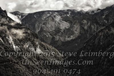Yosemite Mountain in Mist - Copyright 2015 Steve Leimberg - UnSeenImages Com_Z2A7568