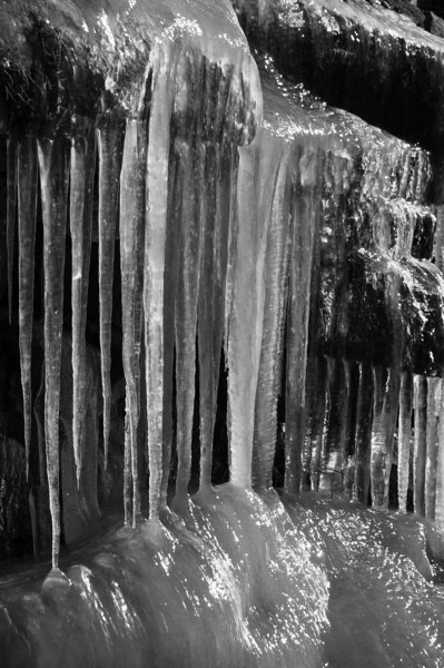 Icicles<br /> Tioga Pass<br /> First Snowless January Since 1933<br /> January 2012