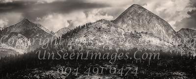 Mountain Range at Sunset B&W - Copyright 2015 Steve Leimberg - UnSeenImages Com _Z2A4052