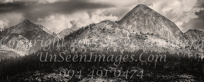 Mountain Range at Sunset B&W - Copyright 2015 Steve Leimberg - UnSeenImages Com _Z2A4052