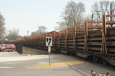 Train through Ypsilanti