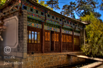 A temple building in Jade Spring Park, north of the town of Lijiang, in Yunnan Province, China.