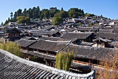 The tiled roofs of Lijiang, Yannan Province, China.
