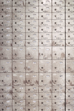 Old lockers in a cafe in Zurich