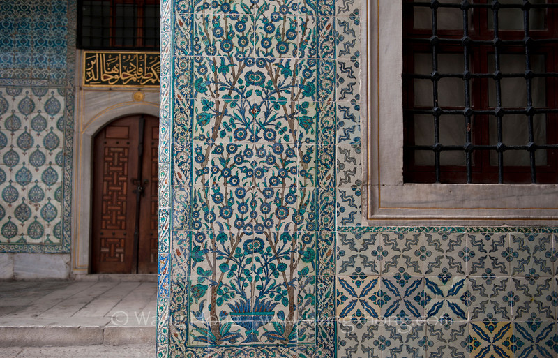 In the Harem of Topcapi Palace.
