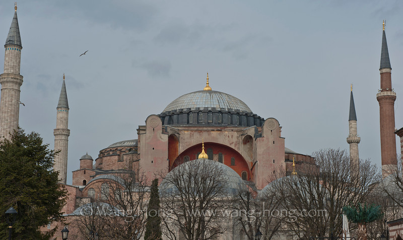The majestic Hagia Sofia, a former Orthodox patriarchal basilica, later a mosque, and now a museum in Istanbul. From the date of its dedication in 360 until 1453, it served as an Eastern Orthodox cathedral and seat of the Patriarchate of Constantinople, except between 1204 and 1261, when it was converted to a Roman Catholic cathedral under the Latin Empire. The building was a mosque from 29 May 1453 until 1931, when it was secularized. It was opened as a museum on 1 February 1935.