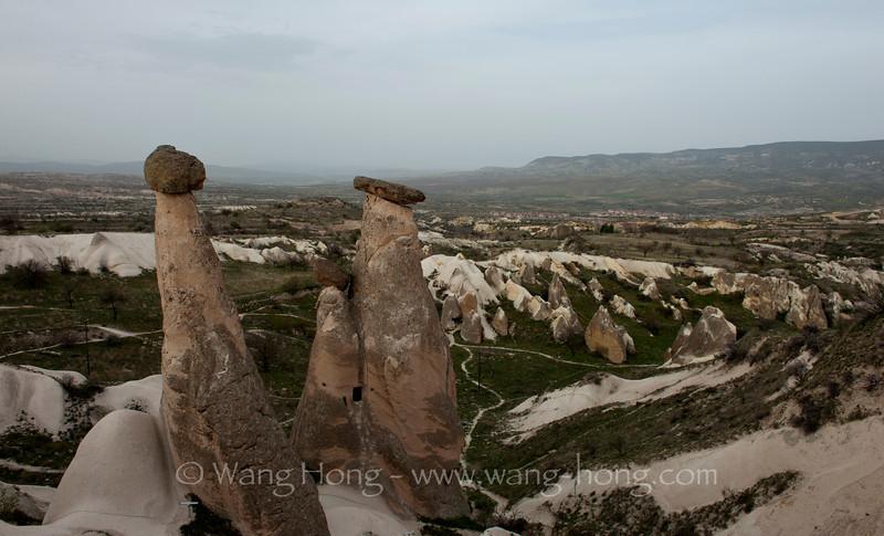 Landscape near Urgup in Cappadocia.
