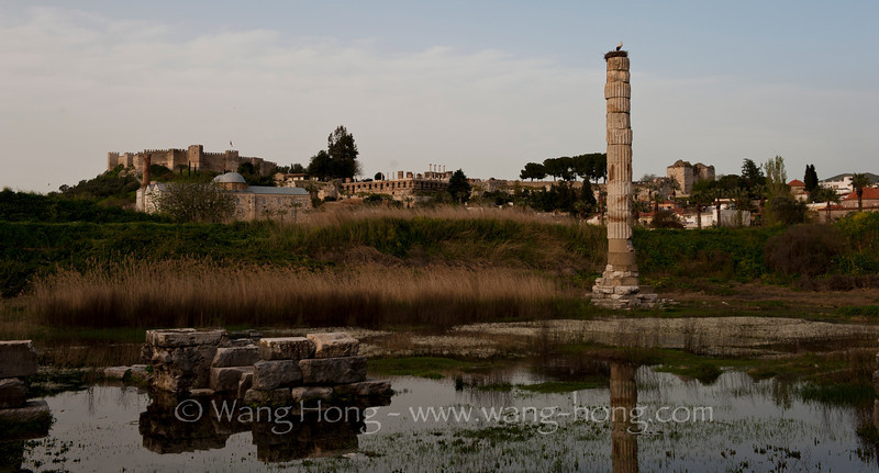 The only remains of the once magnificent Temple of Artemis, one the of ancient 7 wonders of the World.