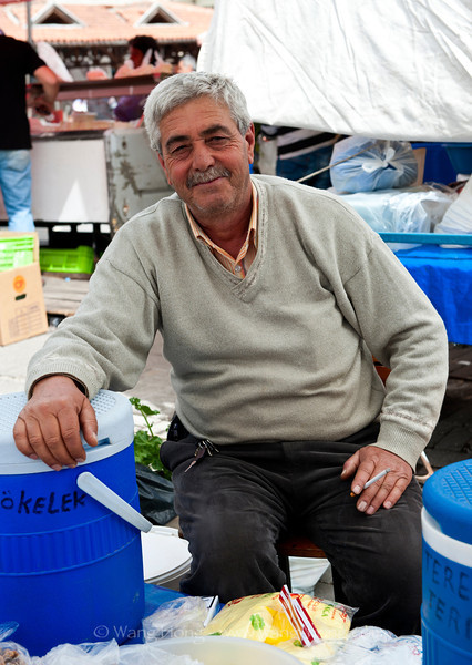 At Saturday market in Selçuk.