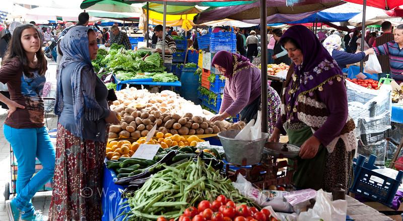 At Saturday market in Selçuk.