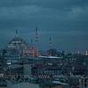 Süleymaniye Camii (built from 1550 and 1558 by Mimar Sinan, the imperial Ottoman architect) at dusk, seen from a bar window of Legacy Hotel.