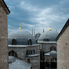 "Sultanahmet Camii, the ""Blue Mosque"" seen from a small window at Hagia Sofia in Istanbul."