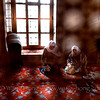 "Women praying at Sultanahmet Camii, the ""Blue Mosque"" in Istanbul."
