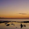 Vanuatu, Tanna, Canoe at Sunset