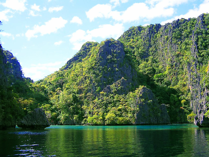 Rock formations in Coron, Palawan