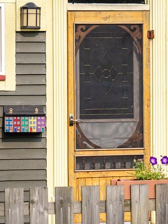 St. John's door and mailbox