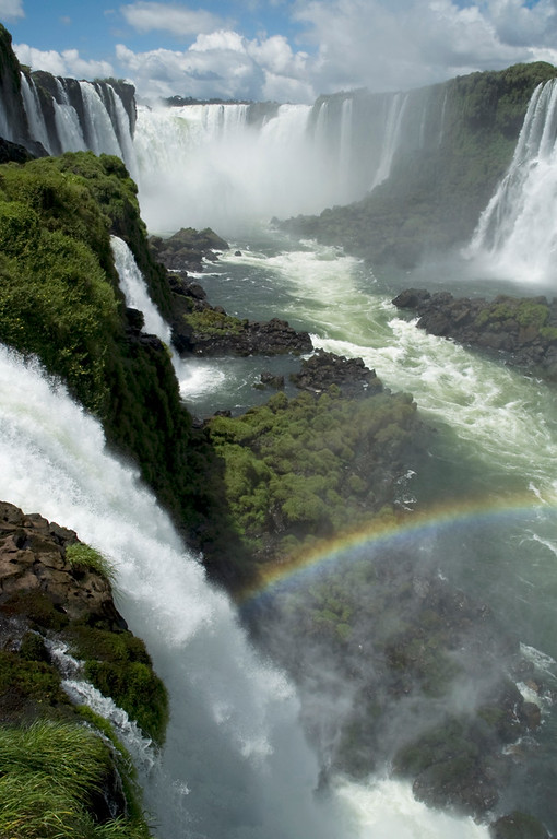 Iguassu Falls, Brazil A view of devils throat, on of 250+ separate falls that make up Iguassu.