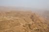 Cable car view of Masada