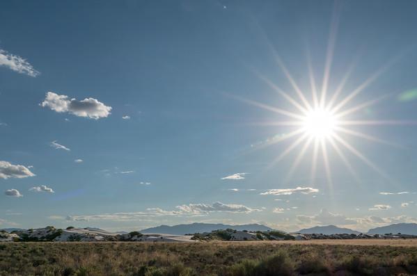 Sunburst at White Sands