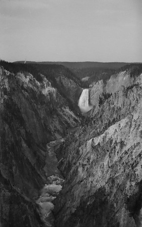 Yellowstone NP. View from artist's point. 1920s-1930s.
