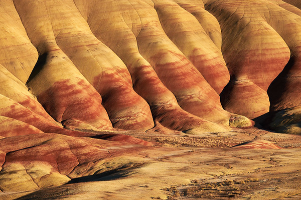 Painted Hills at Sunset, John Day Fossil Beds National Monument, Oregon.