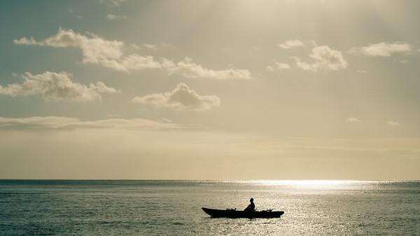 Vanuatu, Tanna, Enefa, Canoe and Sunlight