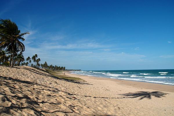 Salvador, Brazil A deserted beach 1 hour north of Salvador.