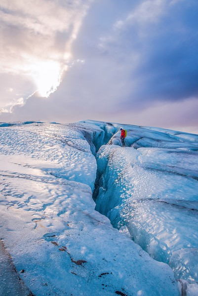 Glacier trekking in Iceland