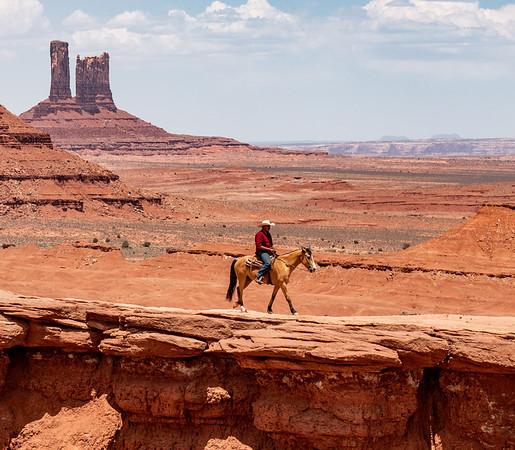 Rider at John Ford's Point
