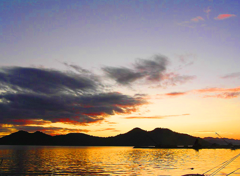 Sunset at the Coron Bay