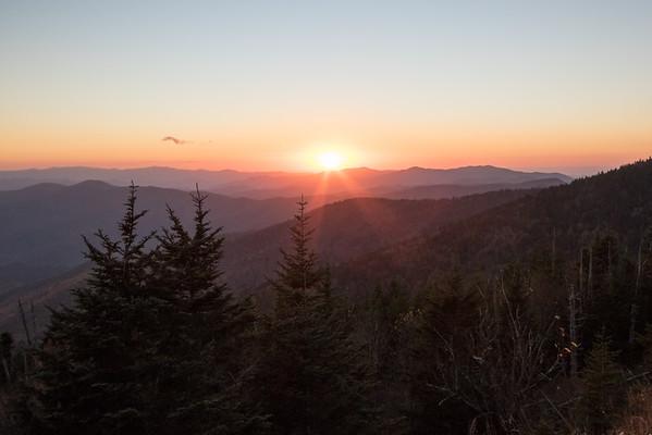 Smoky Mtb sunset