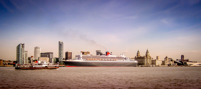 Queen Mary at the Pier Head, Liverpool.