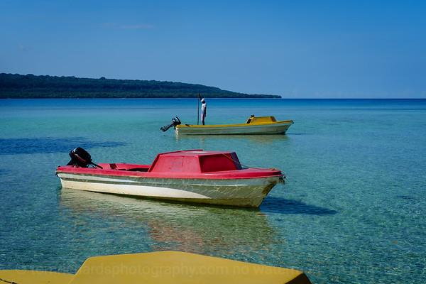 Vanuatu, Santo, Malo Landing, Banana Boats
