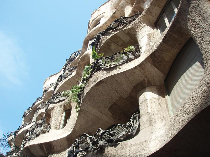 Casa Milà in Barcelona. Spain