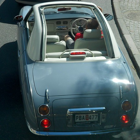Nissan Figaro. Summer in Stockholm, Sweden.