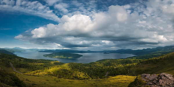 Lake Toya from Bihoro Pass