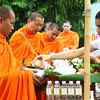 Monks at Siripanna Villa Resort & Spa