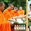 Monks at Siripanna Villa Resort & Spa